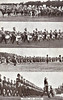 ALDERSHOT MILITARY TATTOO - The Aldershot Military Tattoo was held annually between 1922 and 1939, featuring displays by all branches of the Armed Services. Here we see the massed bands and bugles.