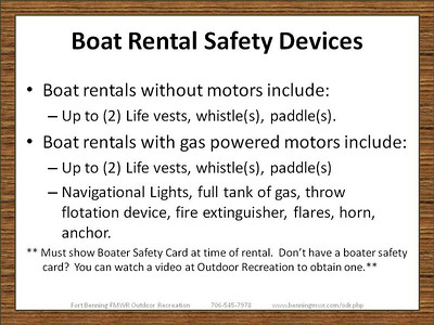 Boating and Equipment