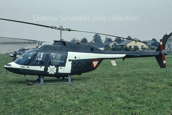1984-09-14 3C-JH Bell 206 Austrian Air Force