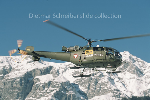 3E-KZ Aerospatiale SA315 Alouette Austrian Air Force