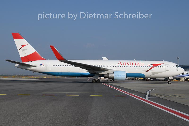 2018-08-24 OE-LAE Boeing 767-300 Austrian Airlines
