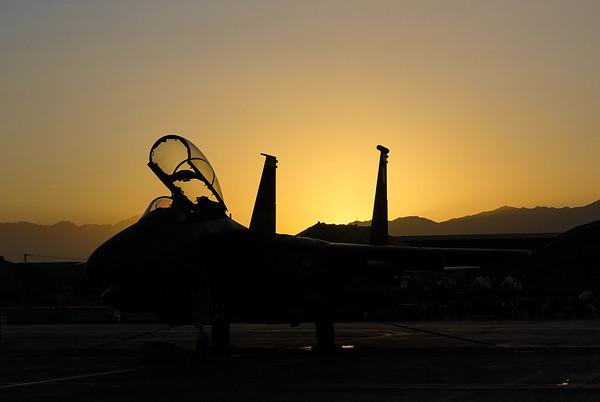 Sunrise on the fighter ramp