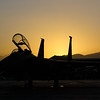 Sunrise on the fighter ramp