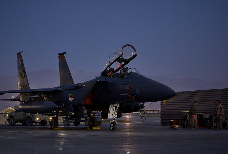 Dawn on the fighter ramp