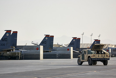F-15Es lined up and ready for their missions