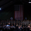 "The Commander-in-Chief on his ""farewell tour"" to the troops before leaving office, hours after the Iraq ""shoe-throwing"" incident"