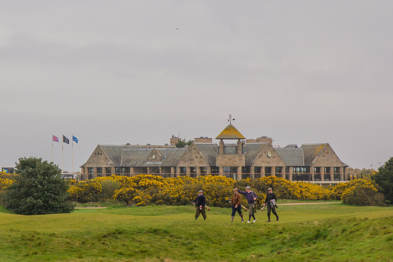 Walking in History at the Old course, St. Andrews, Scotland, United Kingdom on  27. 4. 2014. Photo: Gerald Fischer