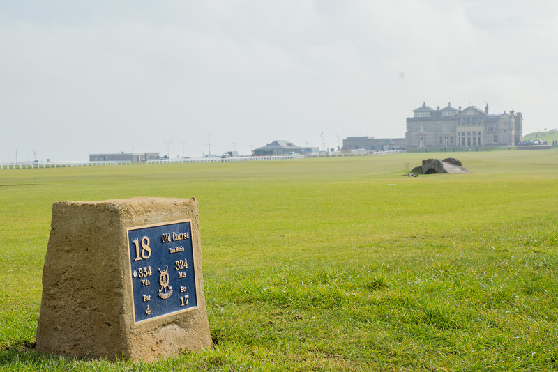 Walking in History at the Old course, St. Andrews, Scotland, United Kingdom on  26. 4. 2014. Photo: Gerald Fischer