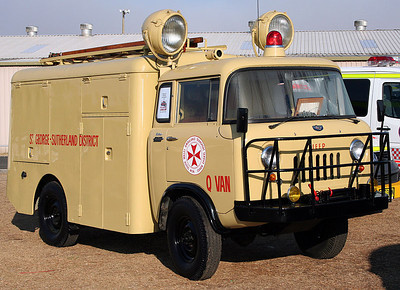 The Q van was a 1960 Willys 4WD jeep, built by Wormald Bros in Port Melbourne. The first specialised rescue vehicle built in Australia, it ws used by the Central District Ambulance Service from 1961 to 1980. It was fully restored by retired and current serving NSW paramedics from the Point Clare region.