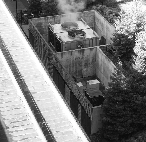DeYoung Museum Heating Plant (From Observation Tower) -- San Francisco (January 2011)