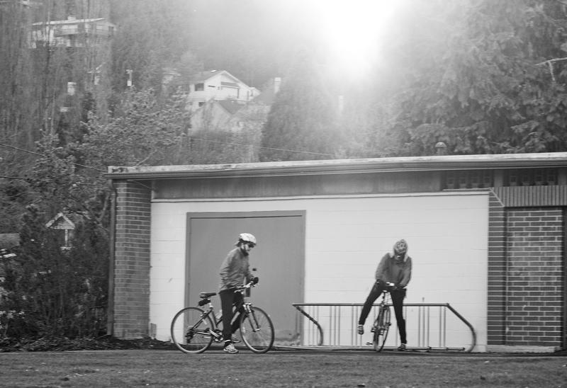Girls On Bikes -- Mathews Beach, Seattle (November 2010)