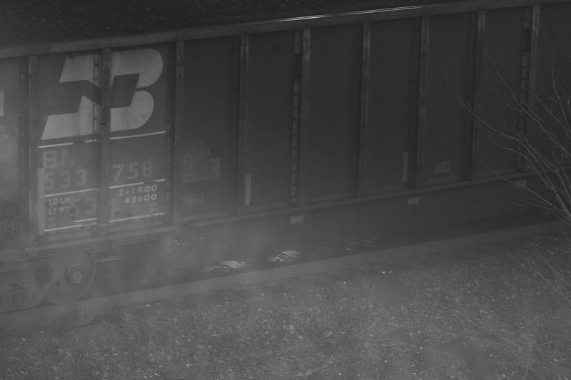 Railroad Car (With Sun Glare), Day Island, Tacoma, Washington (December 2013)