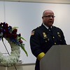 Kelsey Leyva — The Morning Journal <br> Elyria police Chief Duane Whitely speaks March 15 during the Memorial Service for fallen police Sgt. James A. Kerstetter who lost his life in the line of duty March 15, 2010.