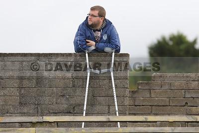 On crutches...