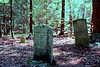 Small Cemetary in the Woods Near a Penna Coal Mining Town Abandoned in the 1850s.