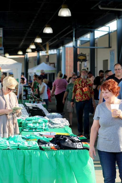 . Jonathan Tressler - The News-Herald. visitors browse some of the merchants and artists� wares inside Classic Park in Eastlake Aug. 11 during opening day of the 2017 Ohio Celtic Festival.