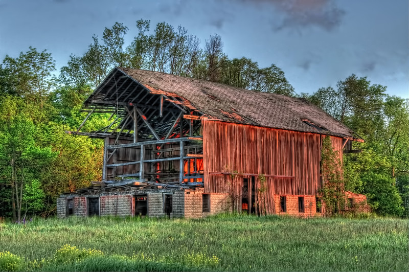 Spring Sunrise over The Old Barn