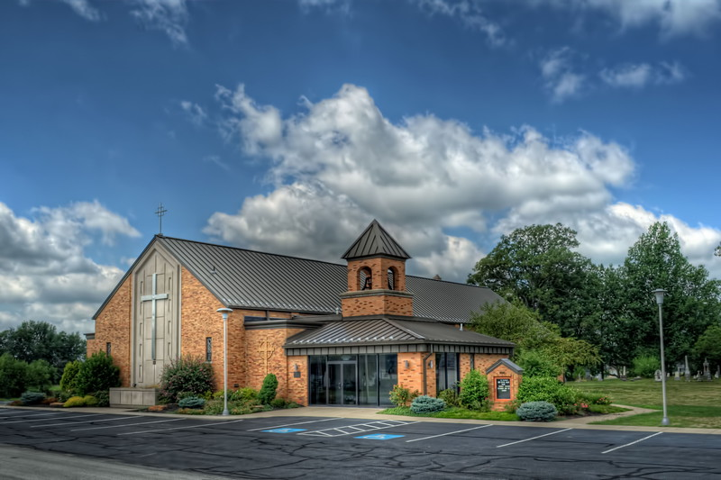 St Patrick Catholic Church. Located in Spencerville, Ohio