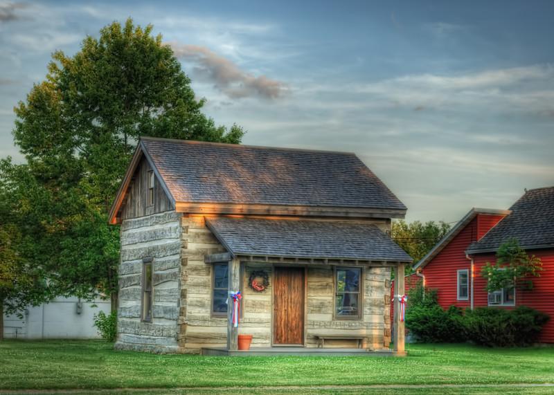 The Spencerville Log Cabin.