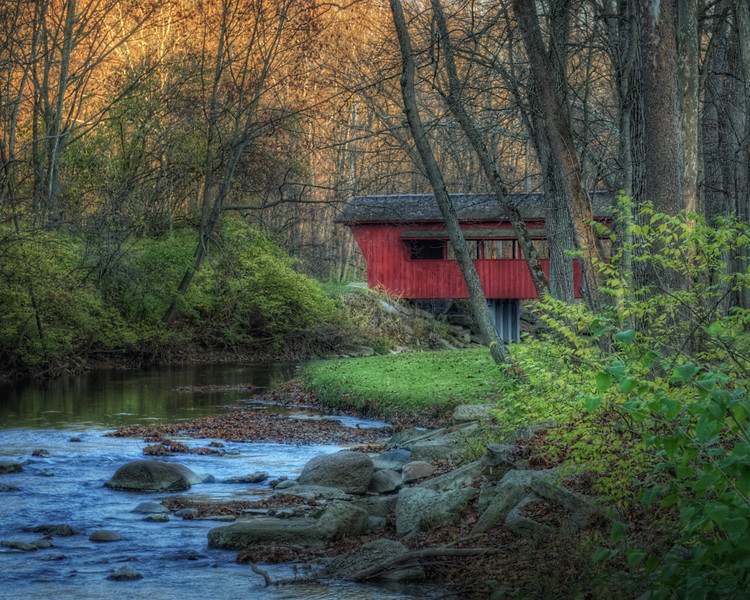 Ross Covered Bridge in Tawawa Park located in Sidney , Ohio