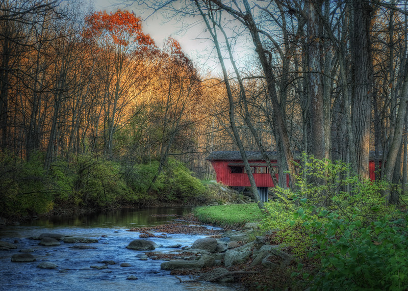 Ross Covered Bridge in Tawawa Park located in Sidney, Ohio