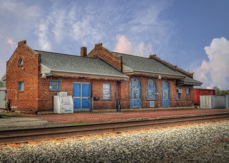 Old Train Station in Wapakoneta Ohio