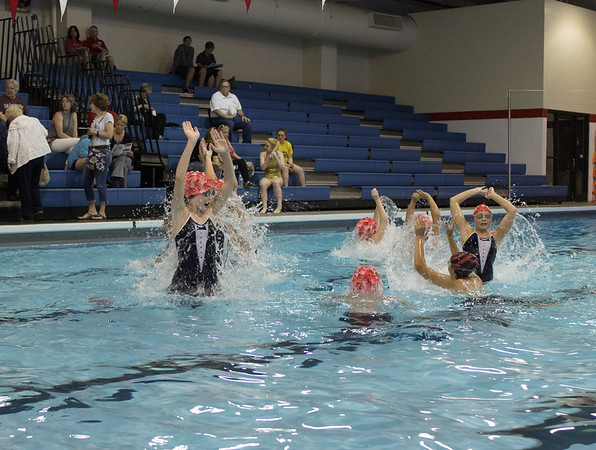 The OHS synchronized swimming group, the Shark Club, made a come back on May 18 after over twenty years of inactivity.