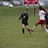 Des Moines Lincoln plays OHS girls during a home match in Ottumwa on April 29, 2016.