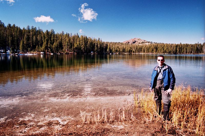 David at Cyote Lake IN BETWEEN BLUE AND YELLOW FLAG Looking North   10-29-05