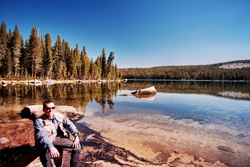 David at Cyote Lake RED FLAG   10-29-05
