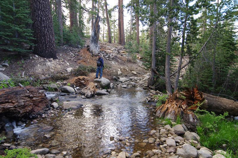 Jason crosses the stream