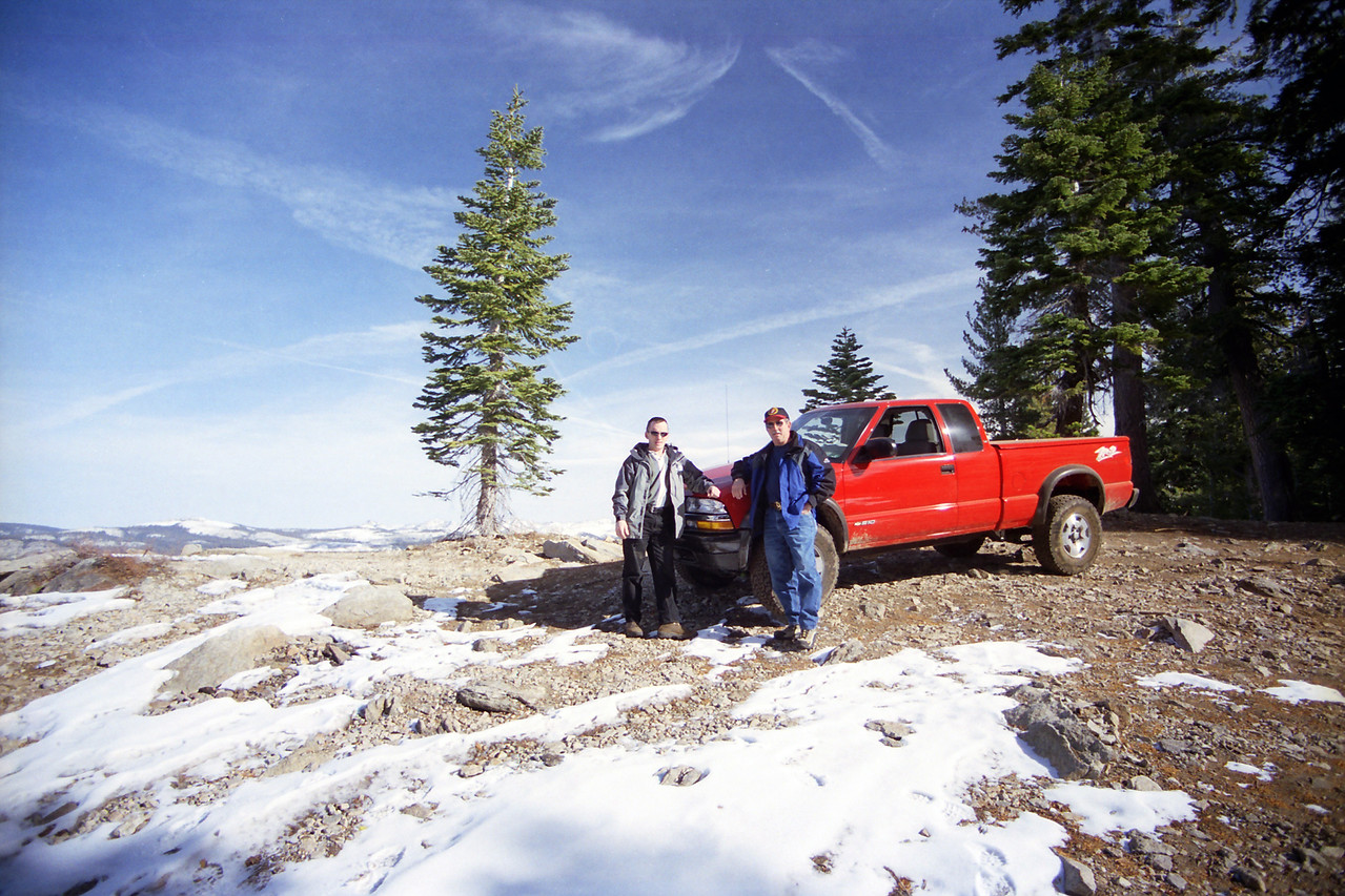 Dad & David pose atop of Raymond Mtn on the Star Lakes OHV