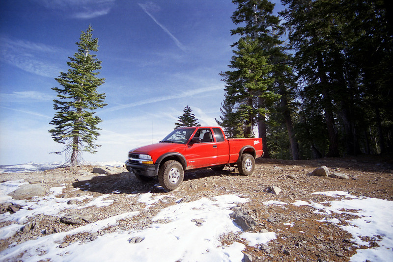 David's Truck atop of Raymond Mtn on the Star Lakes OHV