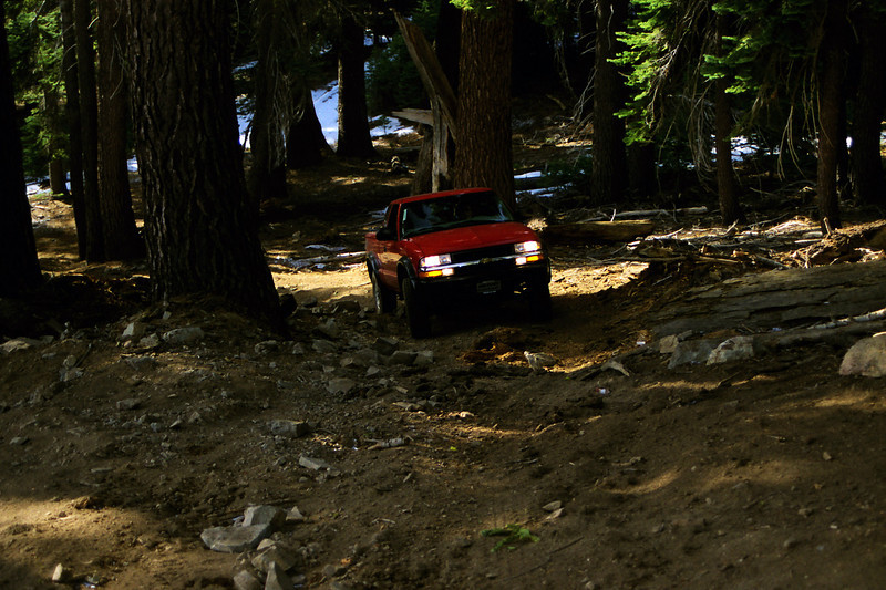 David exiting the campground atop the Northern end of Raymond Mtn along the Star Lakes OHV