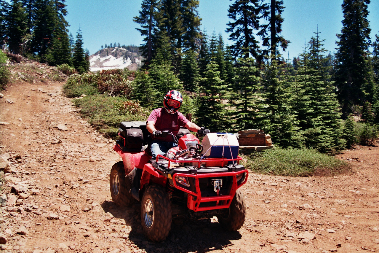 Dad Coming down the trail pic2