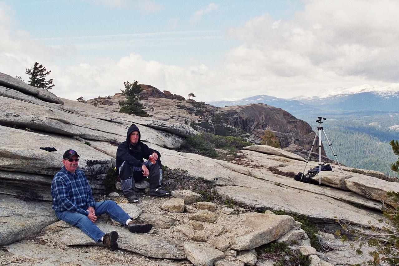 Dad & Jason, Shuteye Trail, Snack-Break