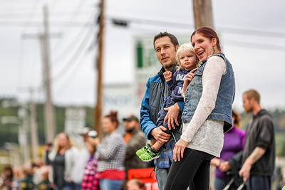 Danyelle and Justin Bonney take in the parade with their Broox.
