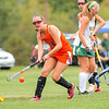 Brewer's Grace Brydges watches her shot on goal during yesterday's game at Oxford Hills in South Paris.