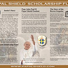 Papal Shield Scholarship Fund_Trifold 03 smaple with white kid background and old pendant art 01