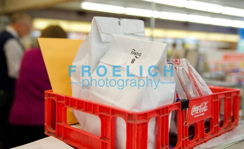 White prescription delivery bags