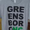"A t-shirt that says ""GreensboroNC"""