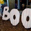 "A sign that says ""BOO"""