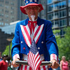 """Uncle"" Sam Hummel on his patriotic segway"