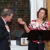 "A ""retiring"" Jim Schlosser and co-host Maria Johnson"