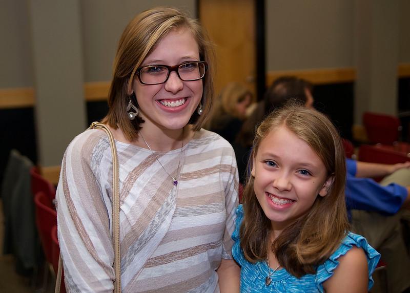 "Hannah Turner, Student Category Honorable Mention Winner for her story ""Little Artist"", and her sister Micah Turner."