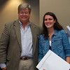 "O. Henry Magazine Editor Jim Dodson and Student Category 1st Place winner Katie Hall, whose story was entitled ""Music In The Streets""."