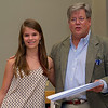 "O. Henry Magazine Editor Jim Dodson and Young Writer Category 1st Place winner Rachel Henley, whose story was entitled ""A Day of Difference"""