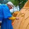 Sand sculptor Larry Hudson