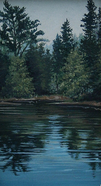 """Oyster Cove""<br /> 3 1/4"" x 4 1/4""<br /> oil on board<br /> <br /> On display at A Matter of Tastes"