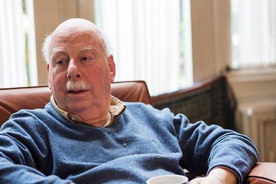 Utrecht, 6 april 2016, Igor de Jongh interviewt zijn verre achteroom (neef van z'n opa) Eddy de Jongh, foto: Katrien Mulder